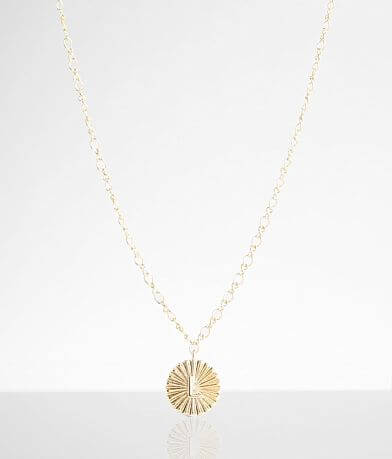 BKE 14k Gold Plated L Necklace