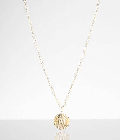 BKE 14k Gold Plated M Necklace
