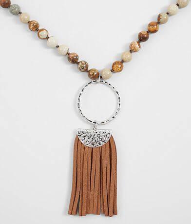 BKE Beaded Tassel Necklace
