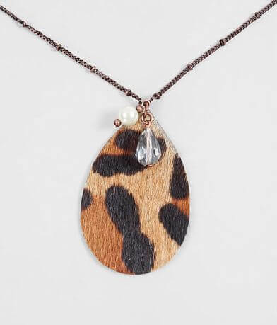 BKE Leopard Pendant Necklace