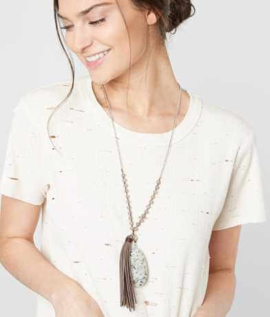 BKE Beaded Fringe Necklace