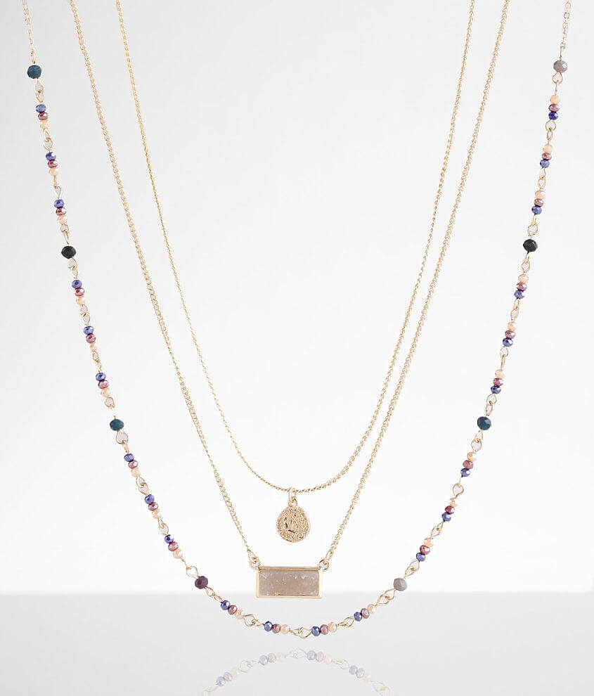 BKE 3 Pack Dainty Necklace Set front view