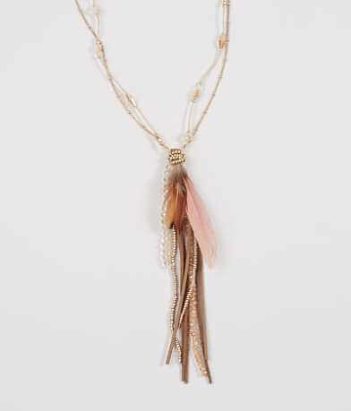 BKE Feather Necklace