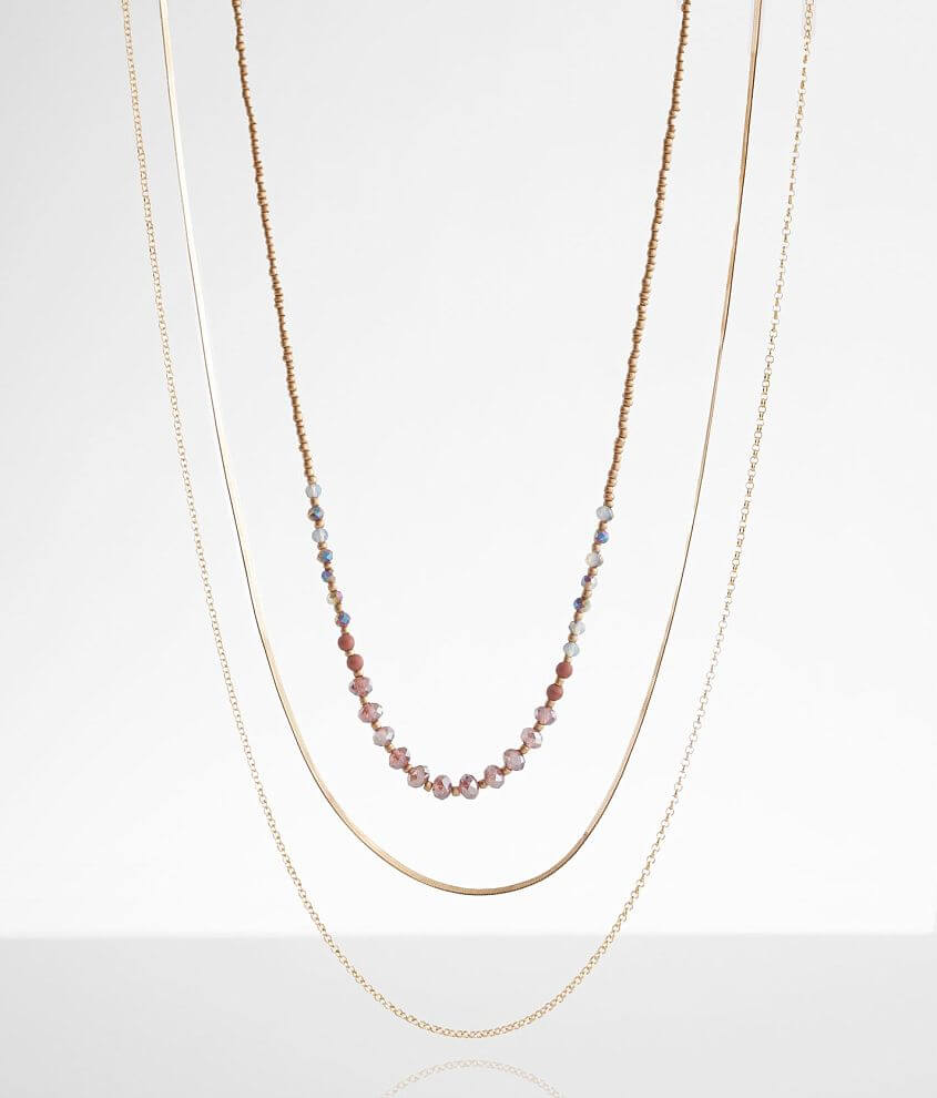 BKE Mixed 3 Pack Necklace Set front view