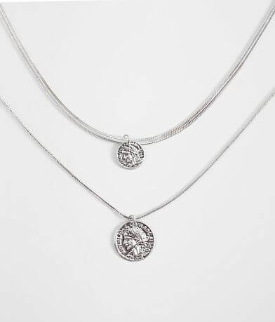 BKE Coin Pendant Necklace Set
