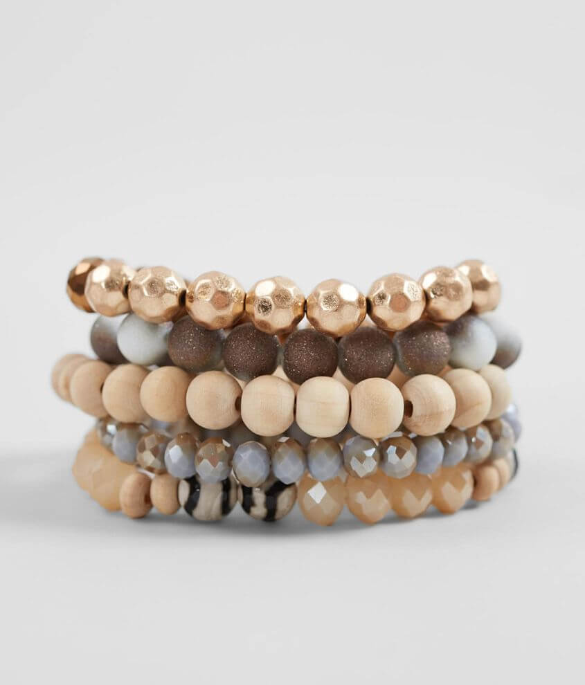 BKE Beaded Bracelet Set front view