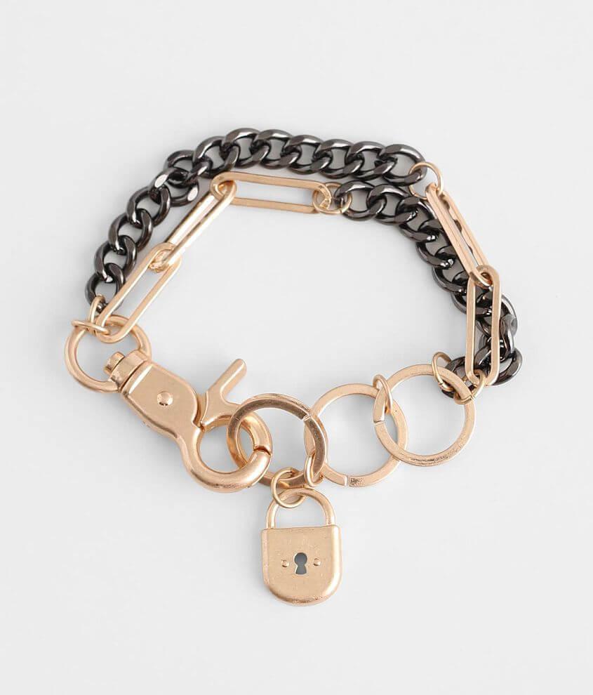 BKE Lock Charm Bracelet front view