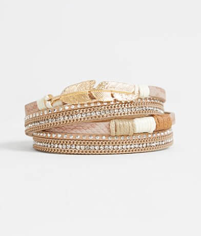 BKE Feather Wrap Bracelet