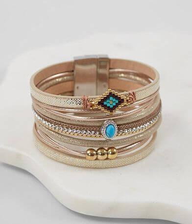 BKE Turquoise Stone Bracelet