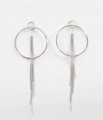 BKE Hoop Fringe Earring