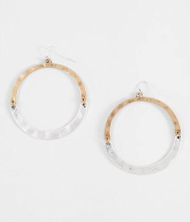 BKE Two Tone Hoop Earring