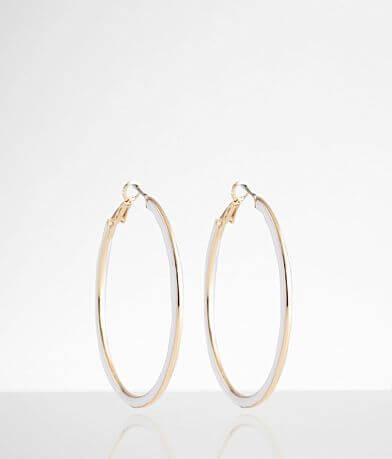 BKE Enamel Hoop Earring