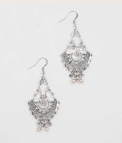 BKE Embossed Chandelier Earring