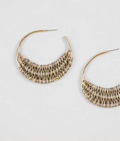 BKE Metallic Woven Earring