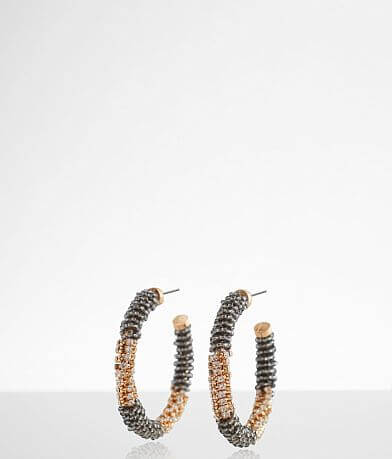 BKE Glitz Wrapped Hoop Earring