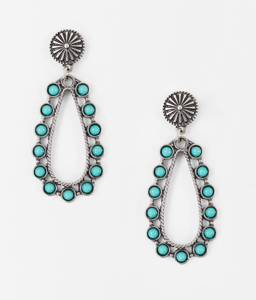 BKE Turquoise Earring front view