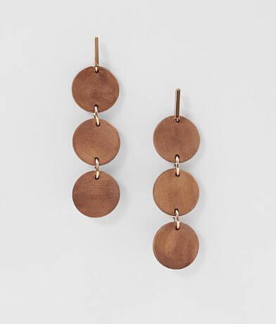 BKE Tiered Wood Earring