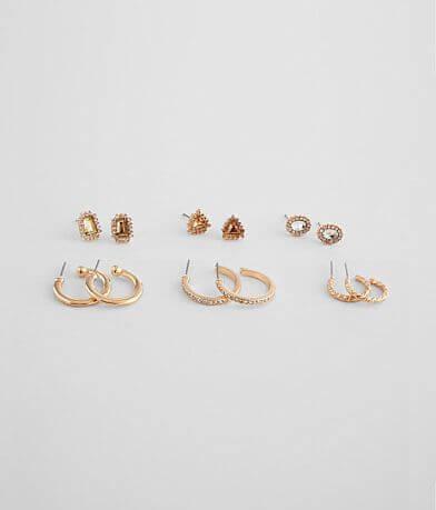BKE Glitz Stud & Hoop Earring Set