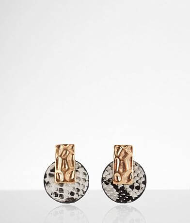 BKE Snake Print Stud Earring