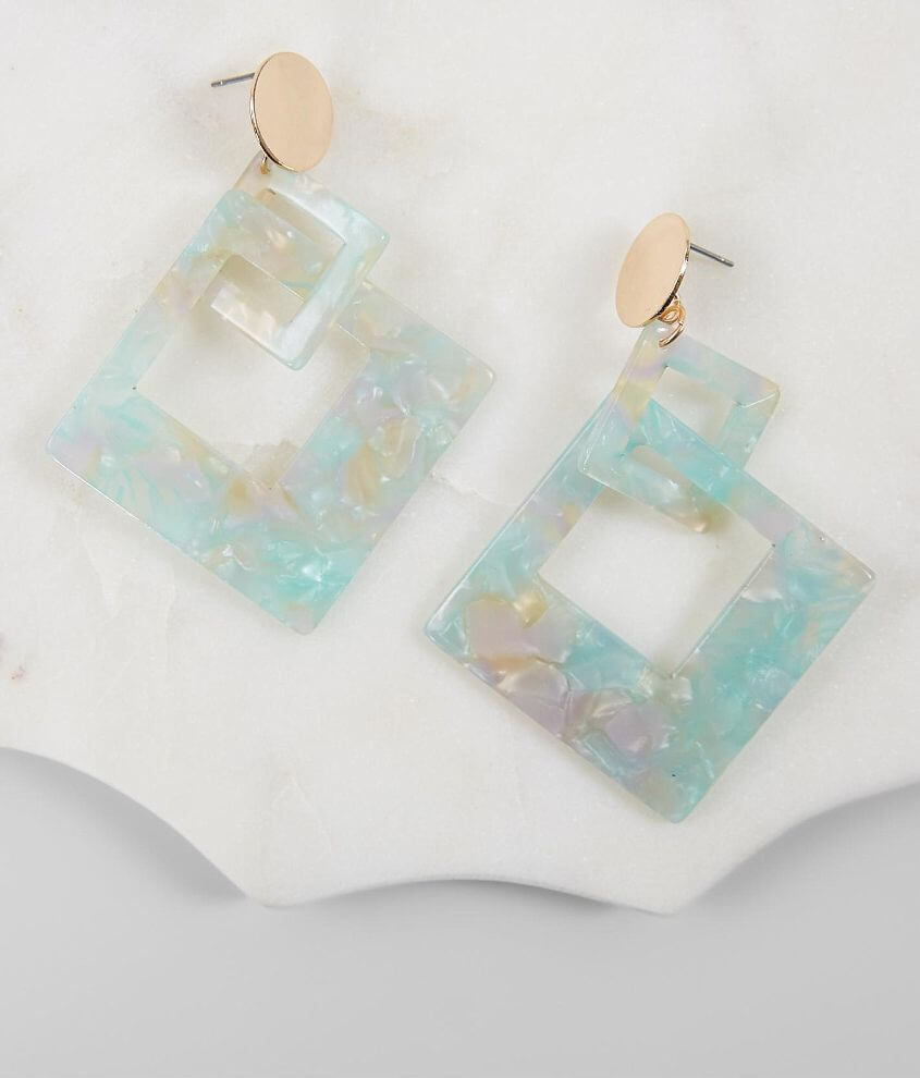 BKE Statement Resin Earring front view