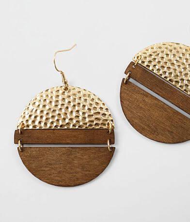 BKE Geometric Wood Earring