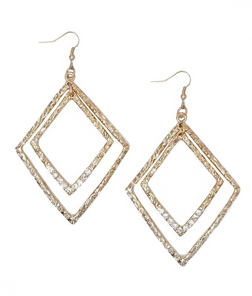 Daytrip Textured Diamond Earring front view