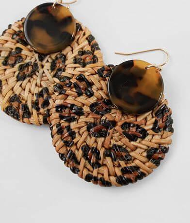BKE Leopard Straw Earring