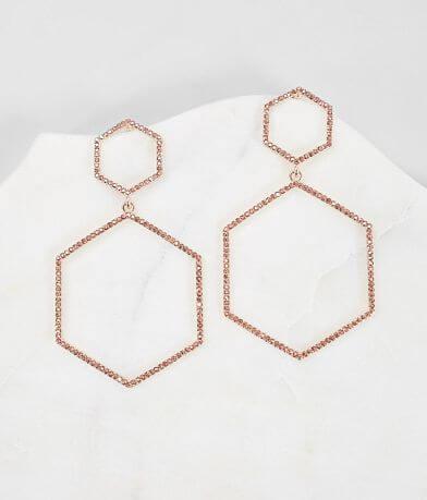 BKE Hexagon Tiered Earring