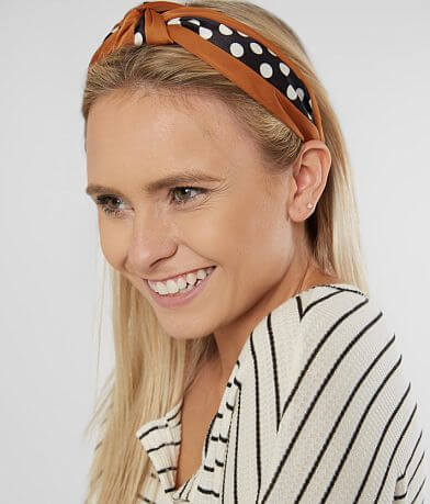 BKE Knotted Polka Dot Headband