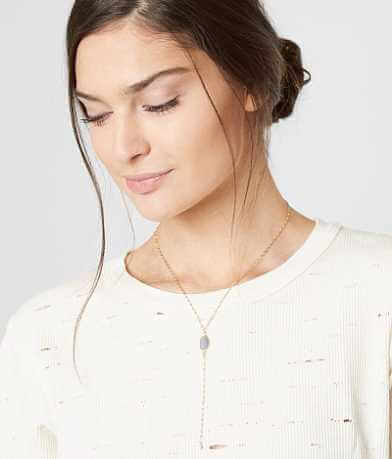 BKE Dainty Stone Necklace