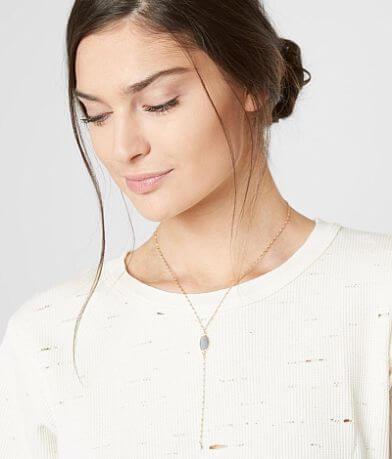BKE Dainty Stone Necklace