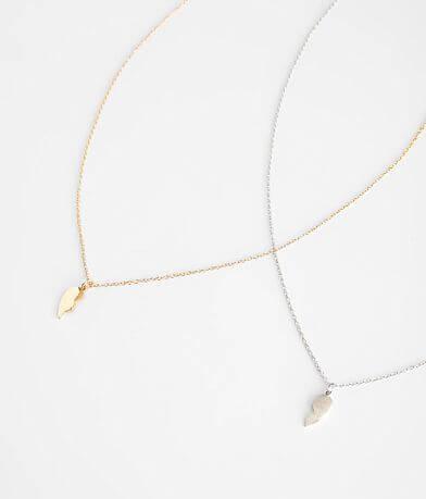 BKE 2 Pack Broken Heart Necklace Set