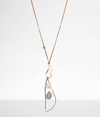 BKE Multi Stone Pendant Necklace