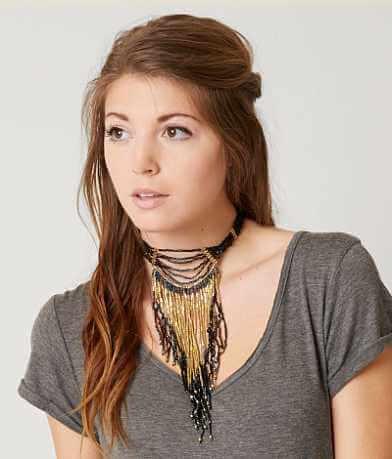 BKE Fringe Choker Necklace