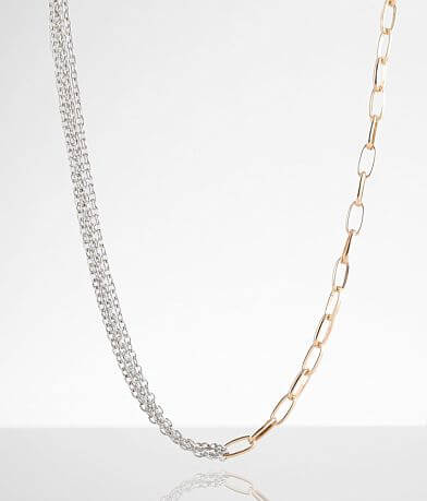 BKE Two-Tone Chainlink Necklace