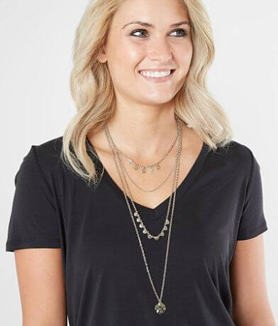 BKE Layered Coin Necklace Set