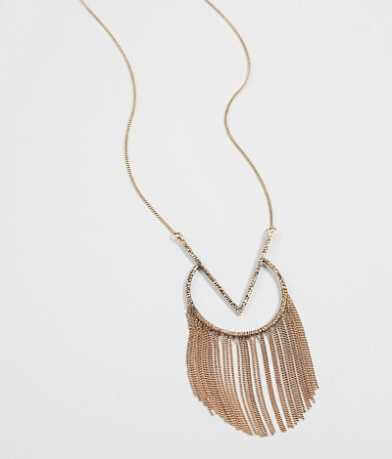 BKE Geometric Fringe Necklace