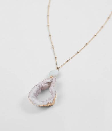 BKE Druzy Stone Necklace