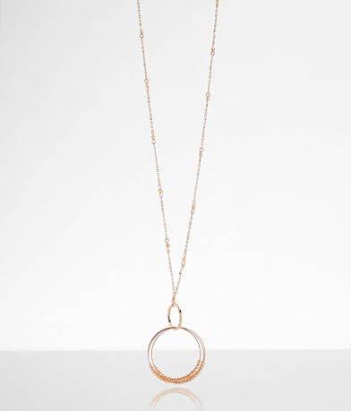 BKE Glitz Hoop Necklace