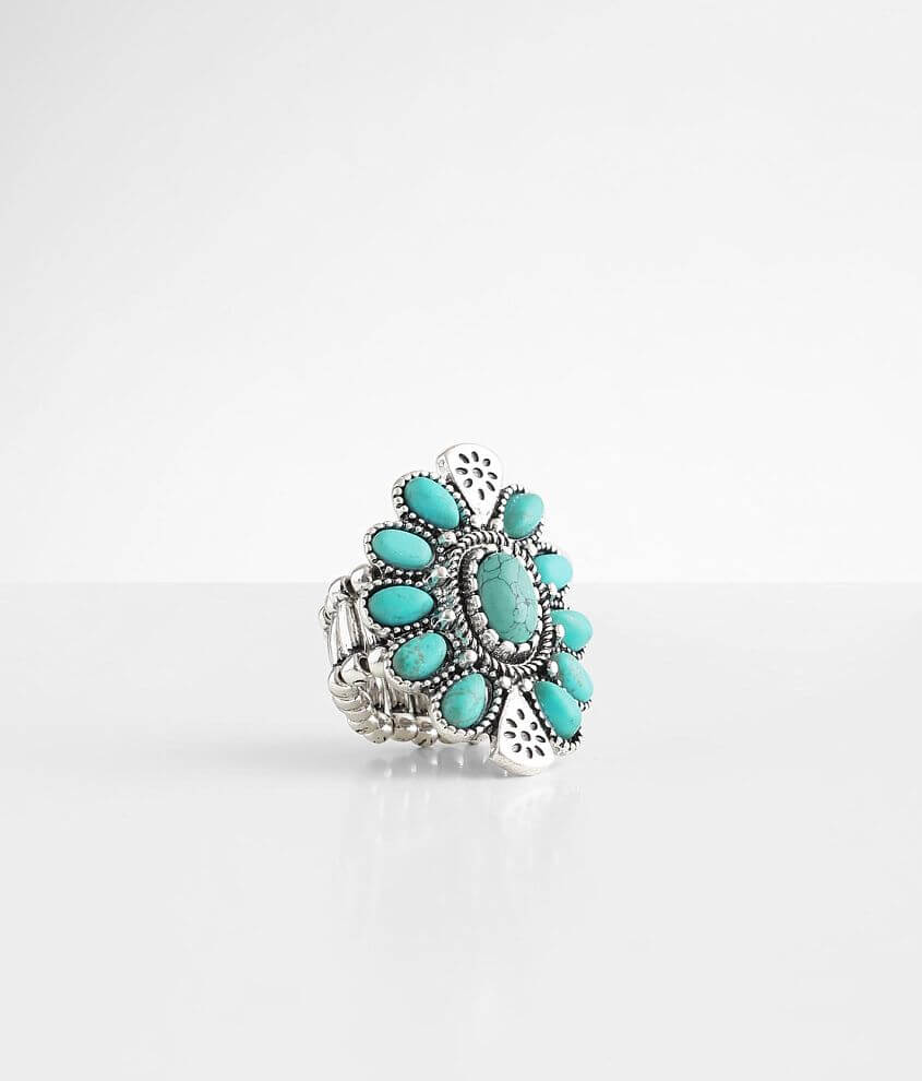 BKE Turquoise Statement Ring front view