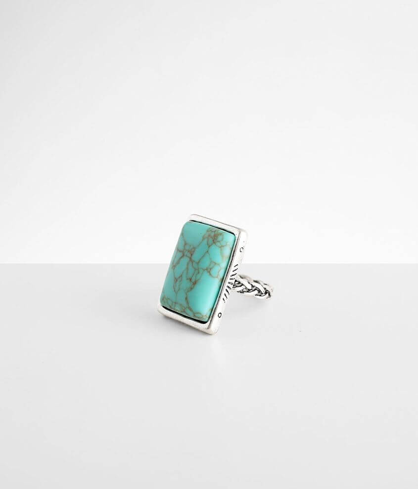 BKE Turquoise Stone Ring front view