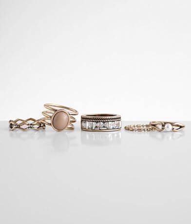 BKE 5 Pack Vintage Ring Set