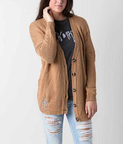 BKE Open Weave Cardigan Sweater