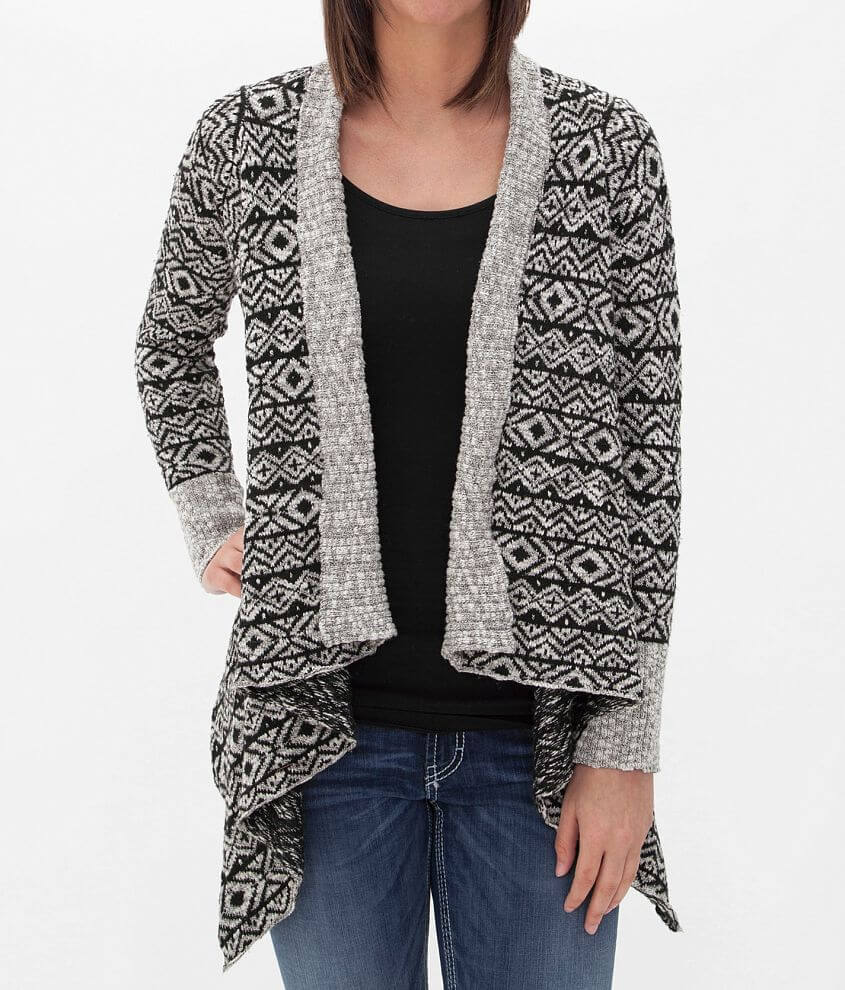 BKE Southwestern Cardigan Sweater front view