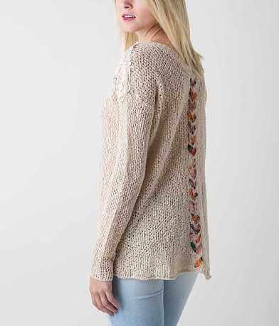 BKE Boutique Open Weave Sweater