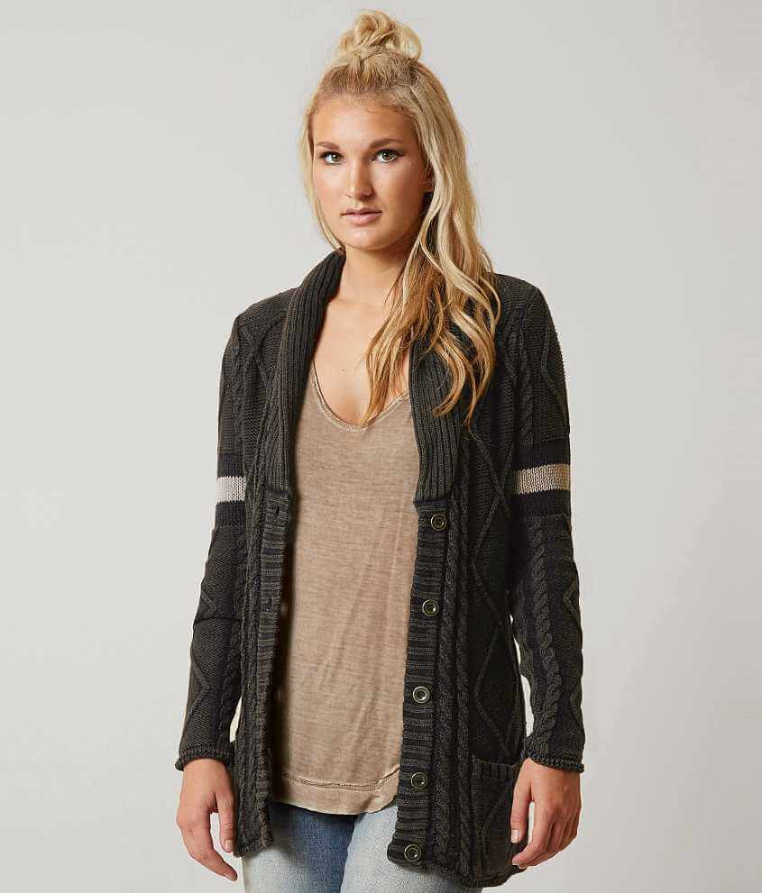 Gilded Intent Cable Knit Cardigan Sweater - Women's Sweaters in ...