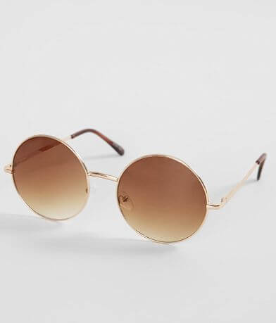 BKE Oversized Round Sunglasses