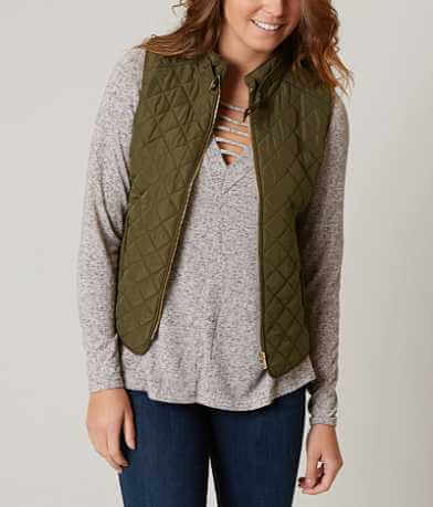Shinestar Quilted Puffer Vest