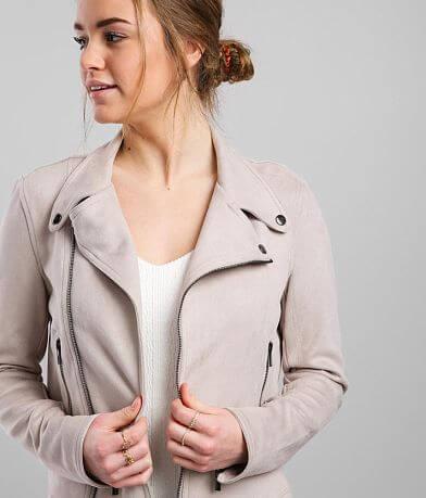 Daytrip Faux Suede Moto Jacket