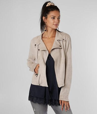 Daytrip Faux Suede Cropped Jacket